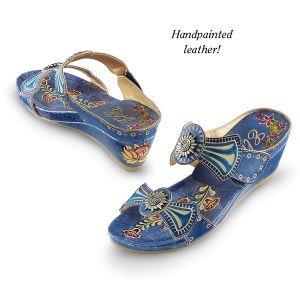 Azure-Blue Sandals - Women's Clothing & Symbolic Jewelry – Sexy, Fantasy, Romantic Fashions