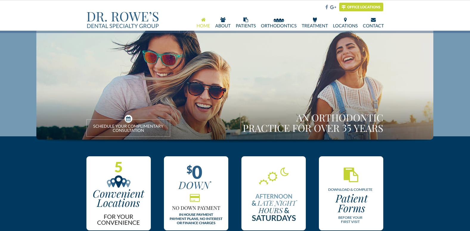 sesamewebdesign psds dental responsive blue green