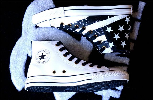 converse Style White US Converse American Flag All Star