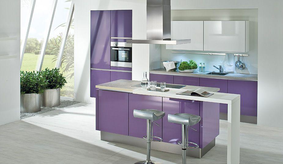 Modell Civetta Grifflose Küchen Pinterest Purple accents - www küchen quelle de