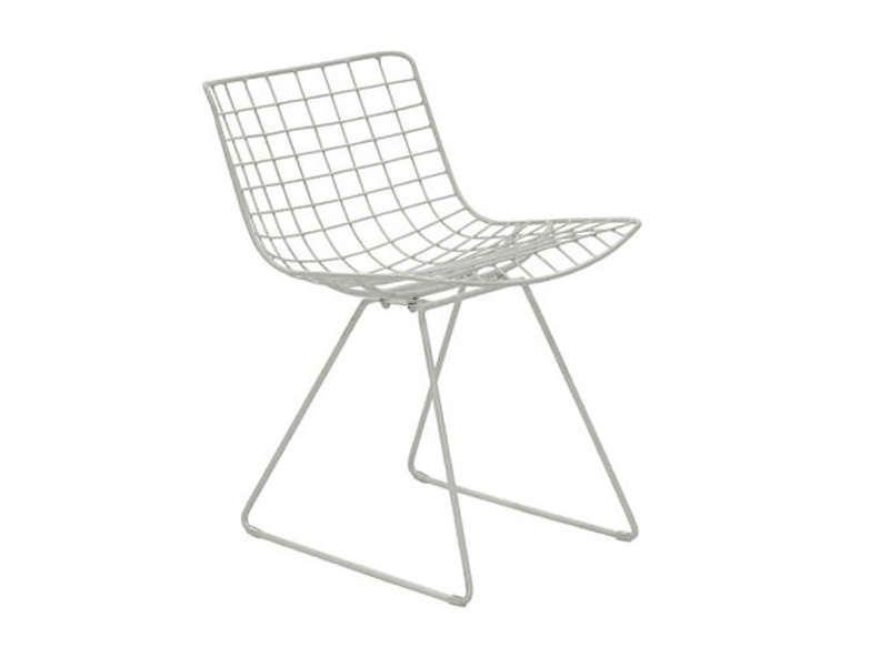 Chaise En Metal Blanc Metix A Chaise Metal Chaise Design Chaise