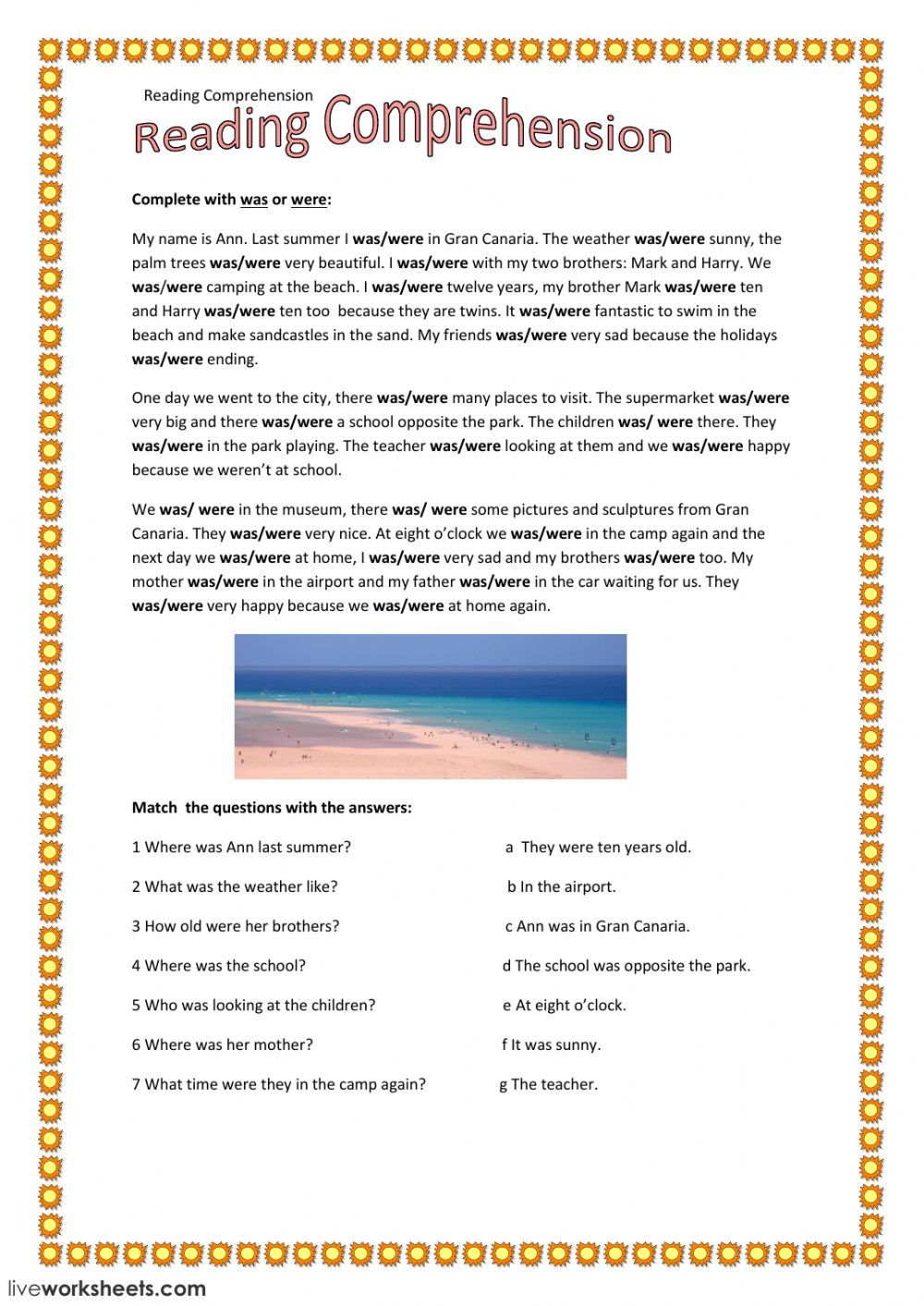 - Was Or Were Interactive And Downloadable Worksheet. You Can Do The