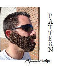 PATTERN--Adult KNIT Beard | Knitted beard, Knitting ...
