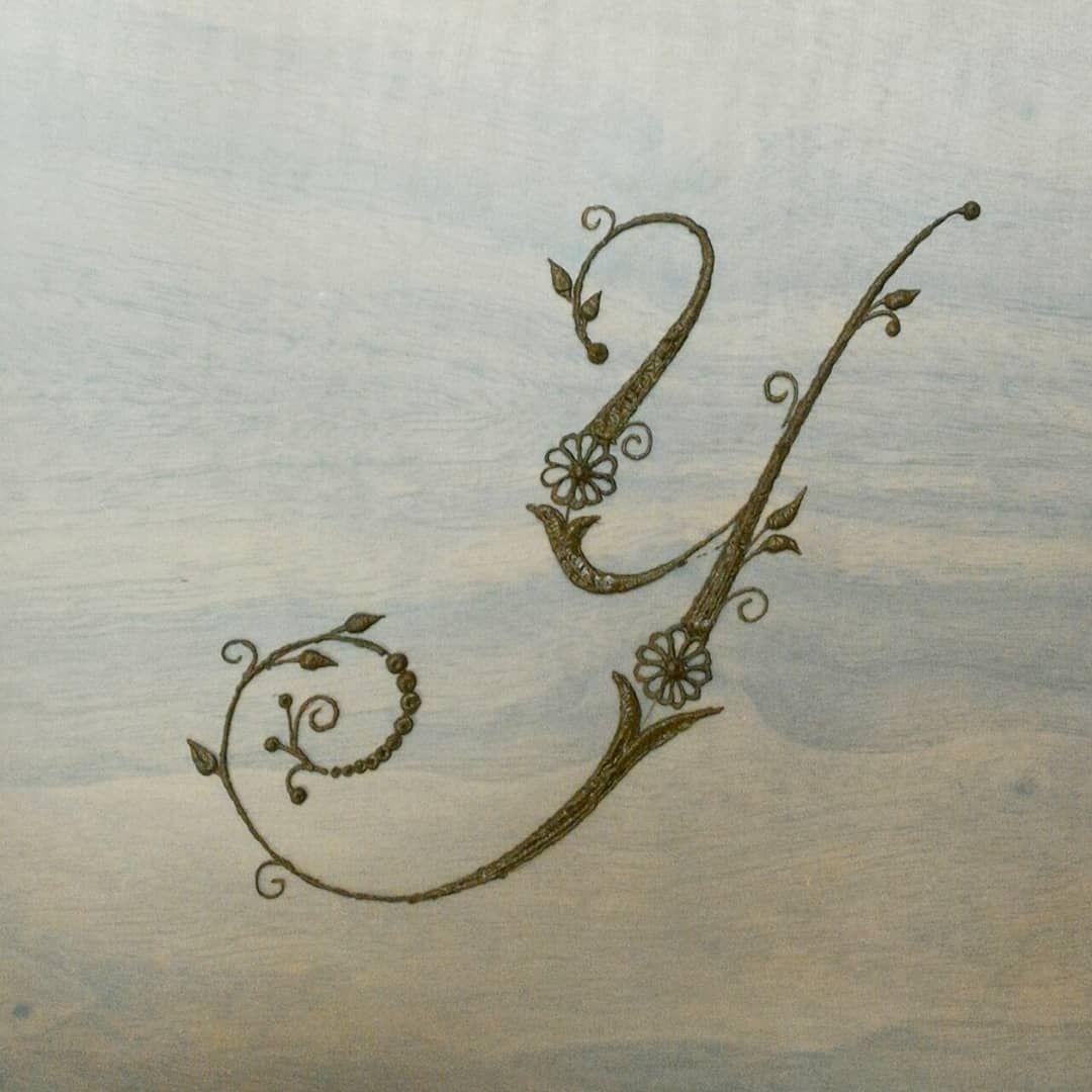 Henna Tattoo Alphabet: #y #letter #letters #alphabet #alphabets #henna #mehndi