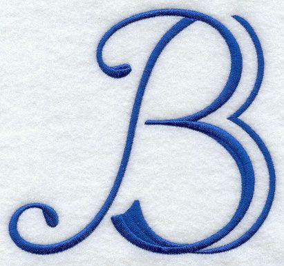 Capital Letter B Embroidery Monogram Letter B Tattoo Letter B
