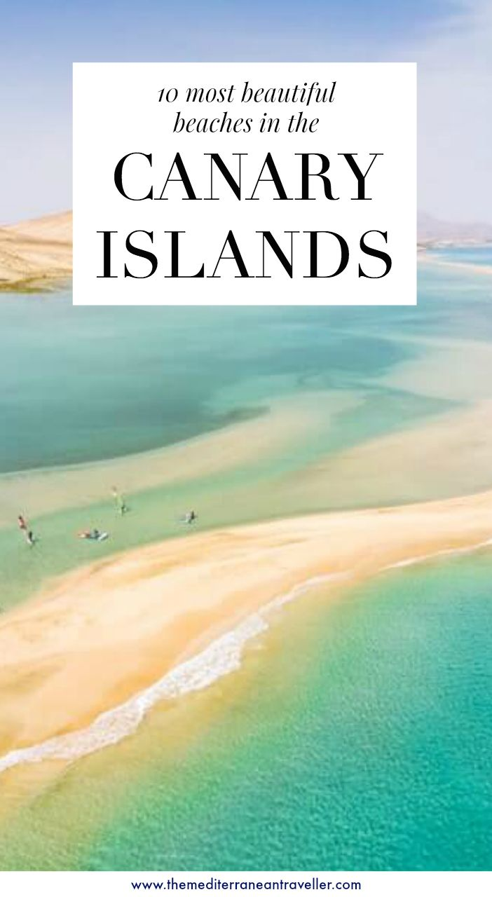 10 Best Beaches in Spain's Canary Islands. Some of the most beautiful and wild beaches in Spain belong to the cluster of islands off the west coast of Africa known as the Canary Islands. They are popular beach break destinations year-round thanks to their eternal spring climate, but which beaches are the the most spectacular? #spain #canaryislands #europe #travel #beach #islands #tmtb