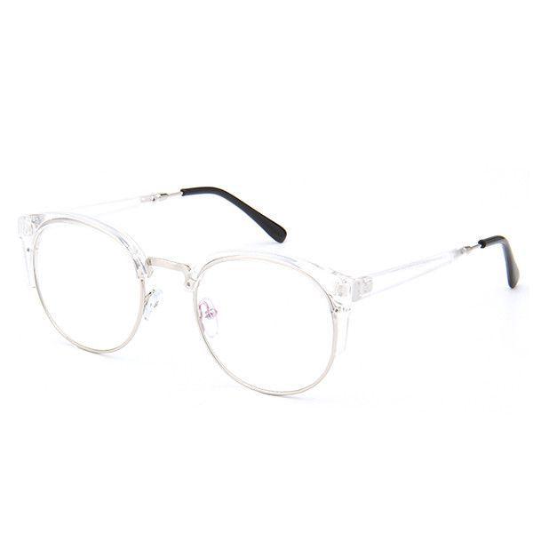2cb7dcb469 Retro Round Transparent Glasses Frame For Women Cat Eye Eyeglasses Frame  Nerd Clear Eyeglass Spectacle Optical Eyewear