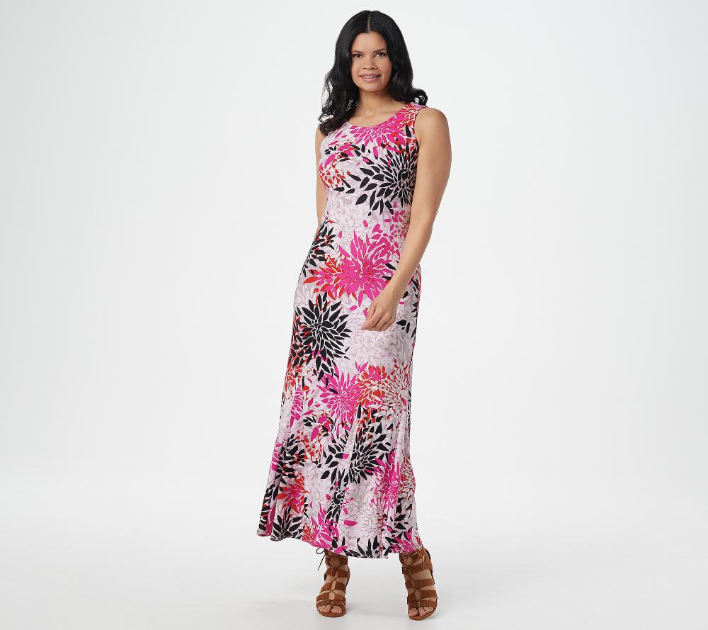 Attitudes By Renee Regular Como Jersey Printed Godet Maxi Dress Qvc Com Maxi Dress Godet Dress Dresses [ 889 x 1000 Pixel ]
