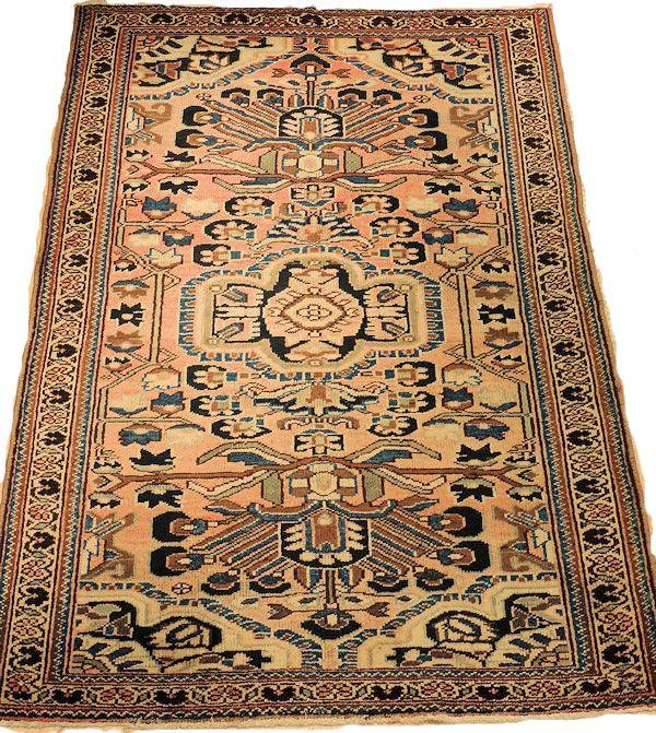 Persian Mahal Semi Antique Rug Semi Antique Persian Mahal Handmade 100 Vegetable Dyes Rugs Antique Rugs Persian Rug
