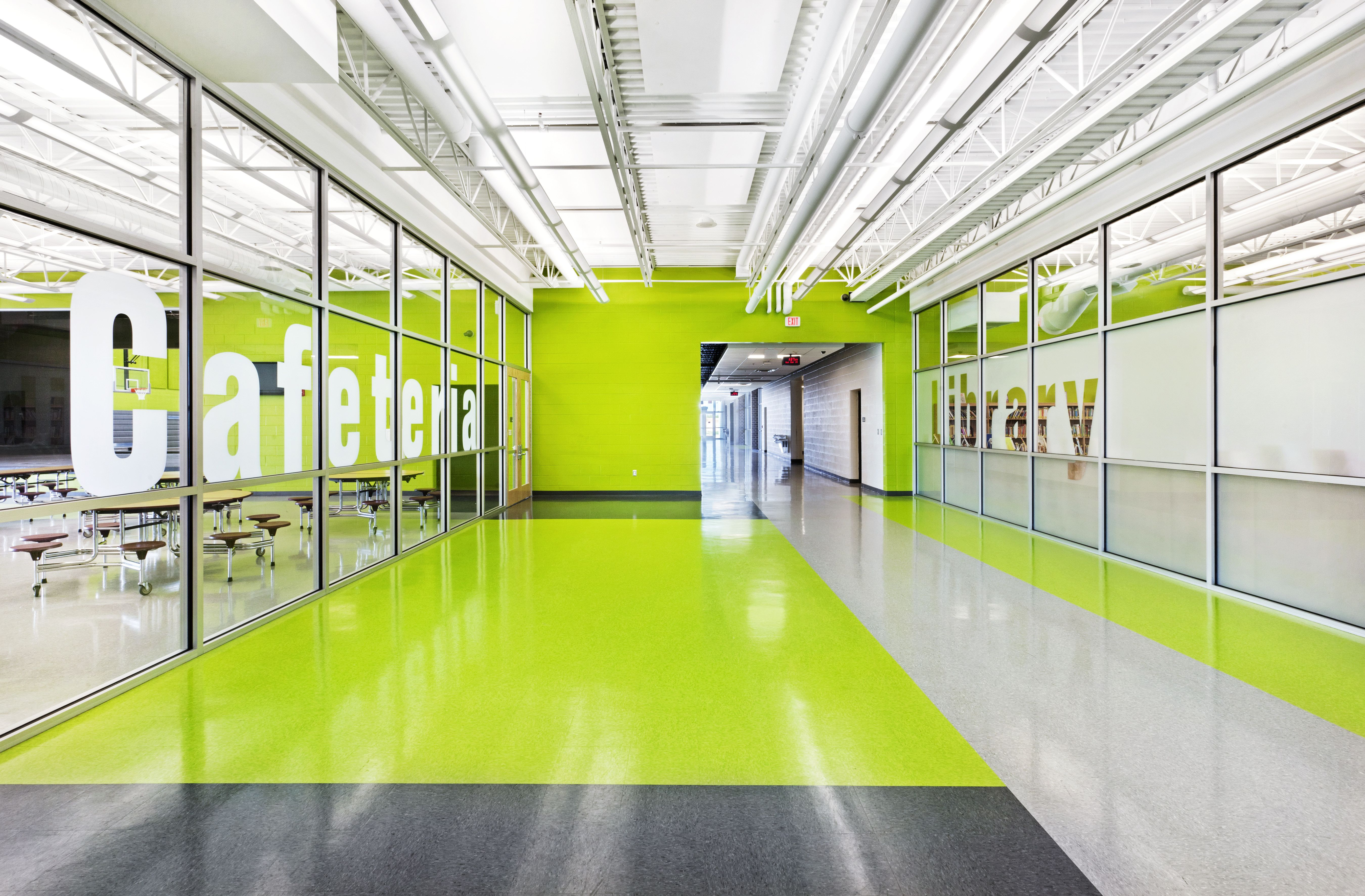 Wayfinding tiles school hallway google search for Schools with interior design programs