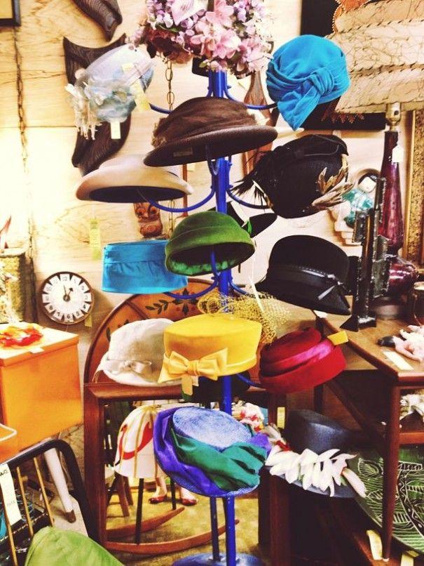 Hat Rack #hats #vintage  http://ohemv.com/antiquing-adventures-long-beach-antique-mall-il-part-i/