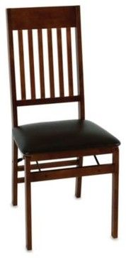 Cosco Wood Folding Chair With Walnut Finish Contemporary