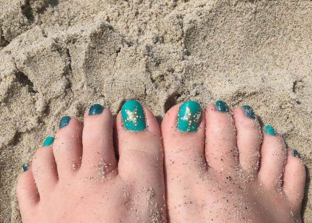 Más de 40 fotos de uñas decoradas para Pies – Foot nails ...