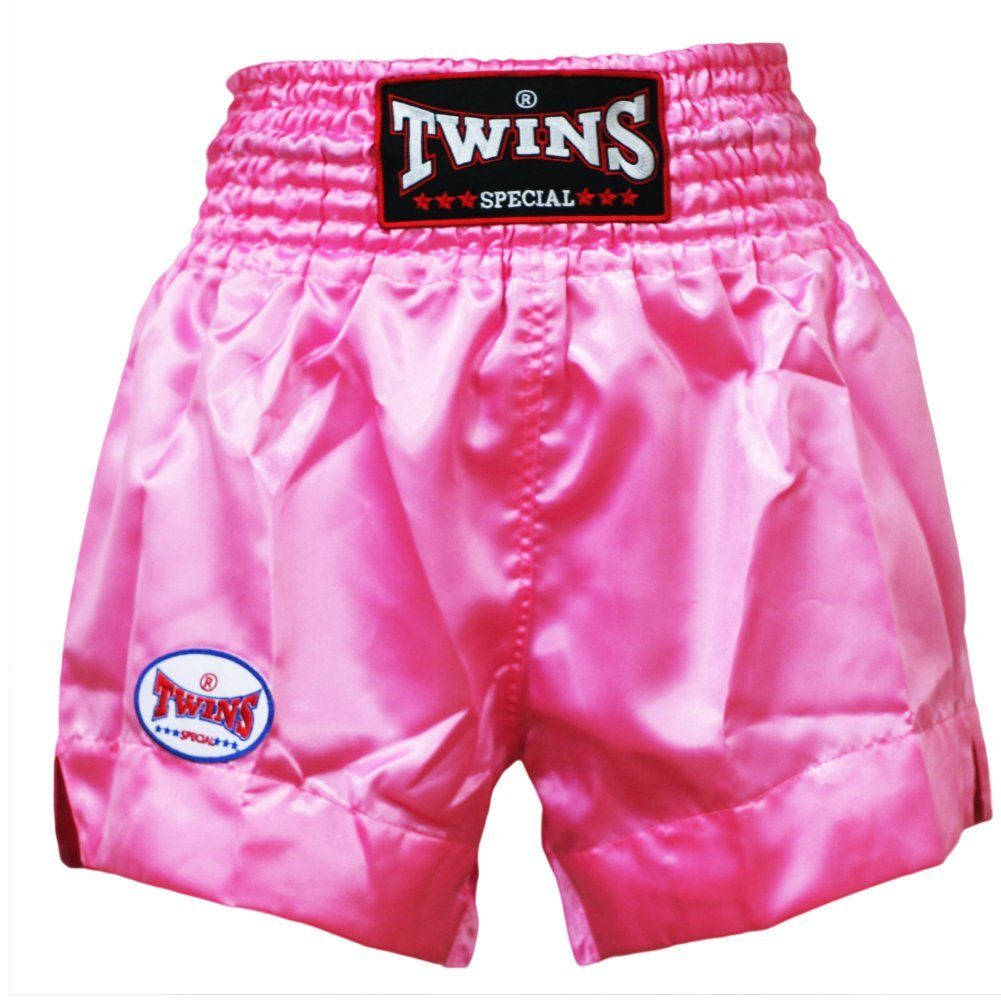 twins special rose pink muay thai shorts size l woman