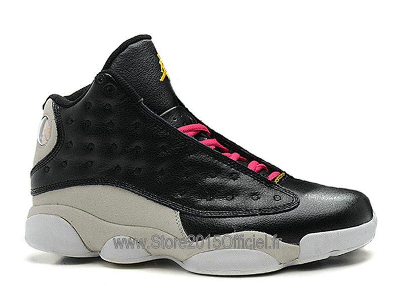 huge discount 4463f 0915b ... air jordan 13 retro chaussure nike jordan pas cher pour homme noir gris  414571