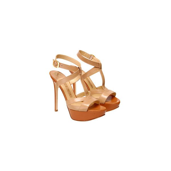 Platform sandal (4.675 ARS) ❤ liked on Polyvore featuring shoes, sandals, heels, high heels, shoes & boots, strappy platform sandals, high heel sandals, strappy heel sandals, platform heel sandals and ankle strap heel sandals
