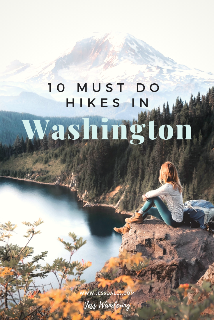 10 of the most stunning hikes in Washington! Don't miss out on some of the pacific northwests best trails! #hiking #pnw #washington