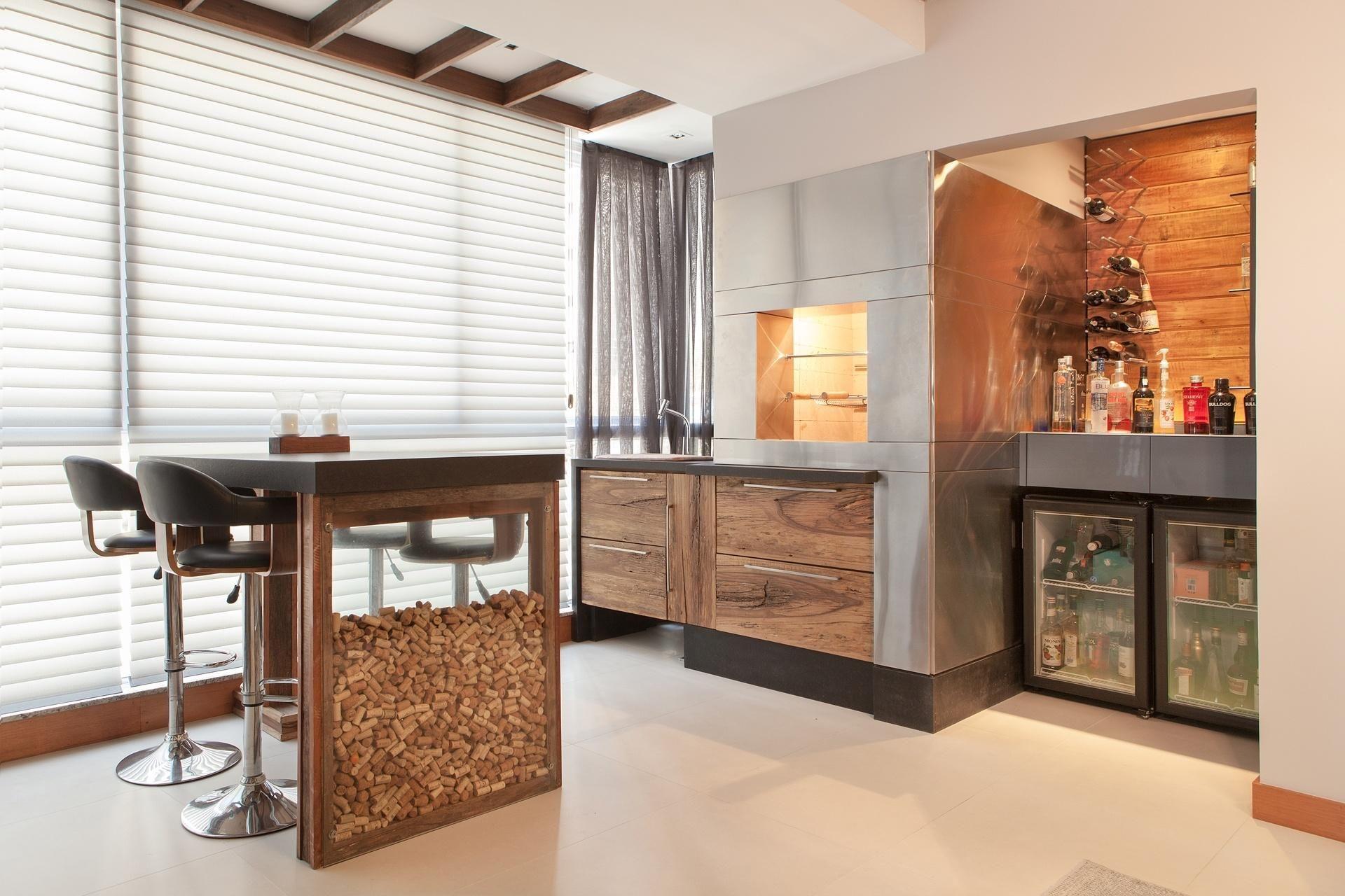 Resultado De Imagem Para Varanda Gourmet Pequena Com Churrasqueira  -> Sala Pequena Com Barzinho
