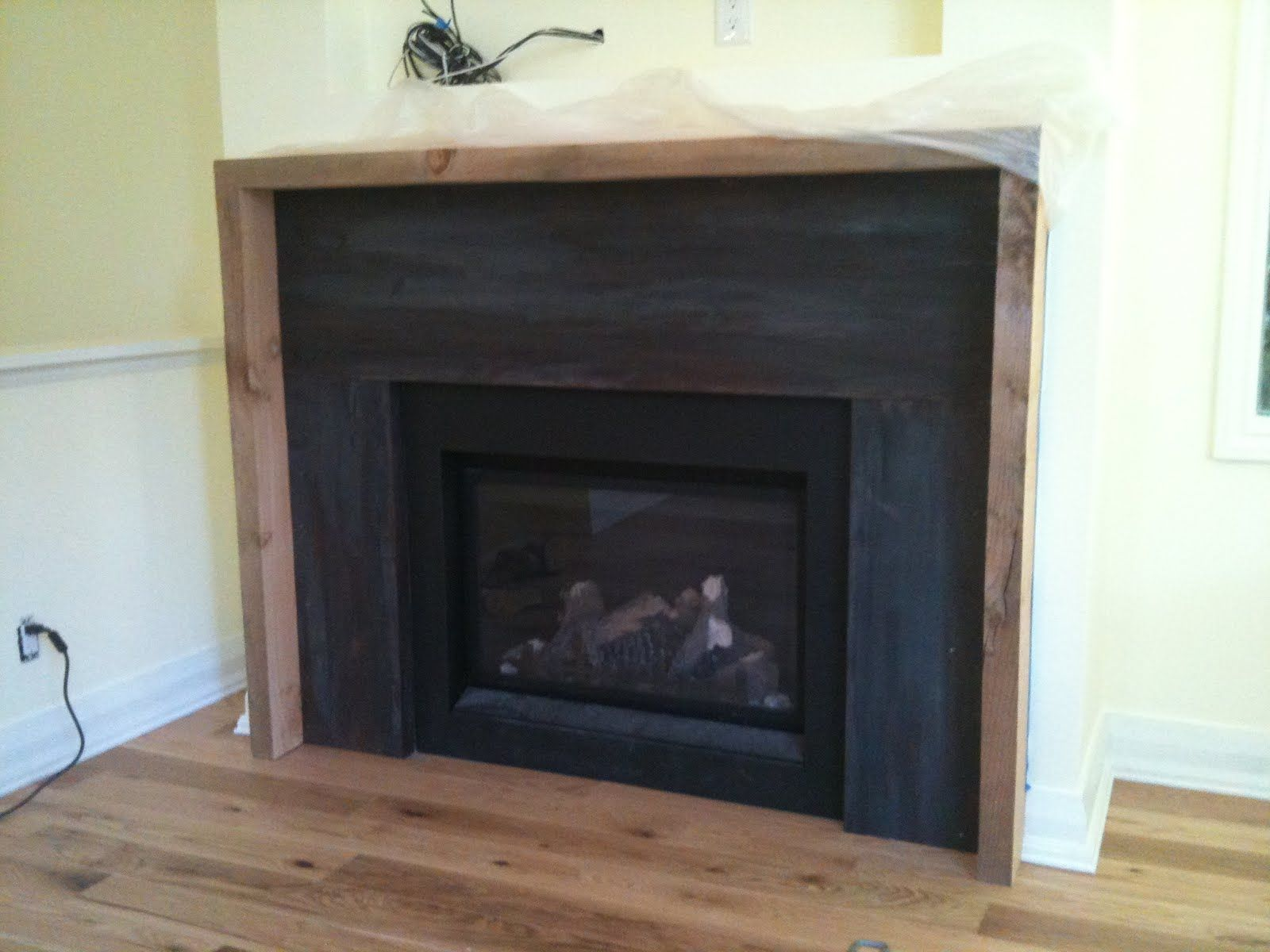 Modern Fireplace Surround  Nice Chunky Edge Detailing And Framing