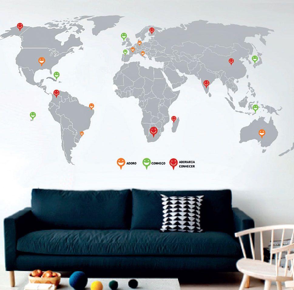 10 Adesivos De Parede Que Interagem Com Outros Objetos Adesivos De  -> Adesivo Parede Sala Estar