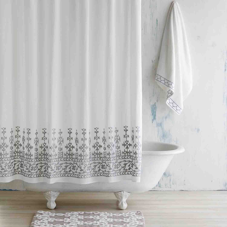 Silver Metallic Jit Shower Curtain Pretty Shower Curtains