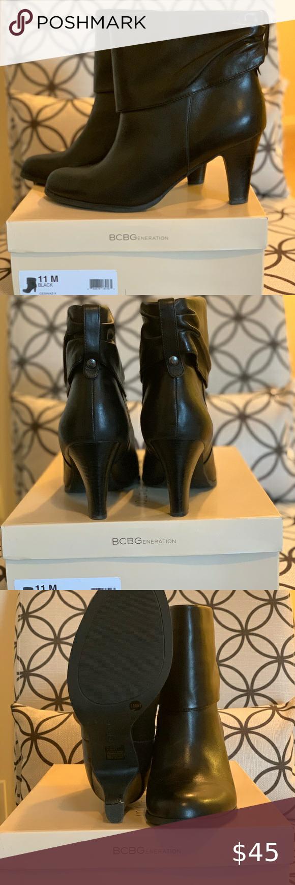 Black ankle boots, Shoes women heels
