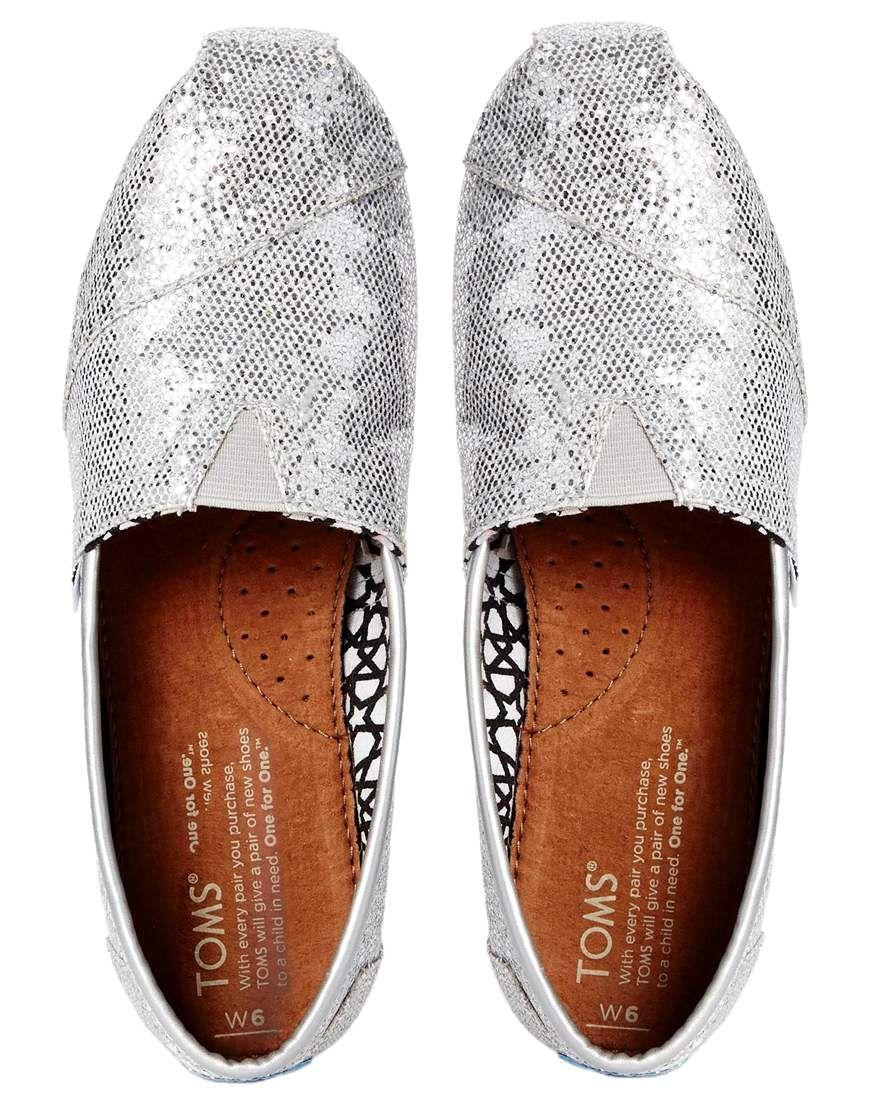 Bild 3 von Toms – Klassische, flache Schuhe in glitzerndem Silber