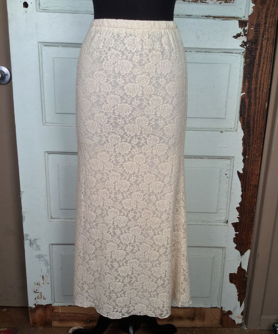 Take a look at this Cowgirl Justice Cream Floral Lace Maxi Skirt - Women today!