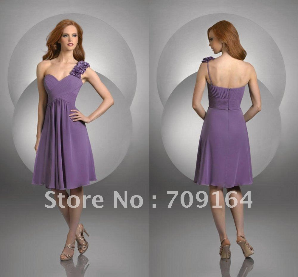 Short purple wedding dresses  Pin by Cally Jones on Janieus Wedding  Pinterest  Weddings