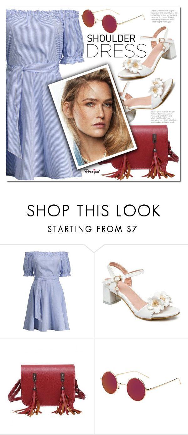 """Shoulder dress"" by j-sharon ❤ liked on Polyvore featuring vintage"