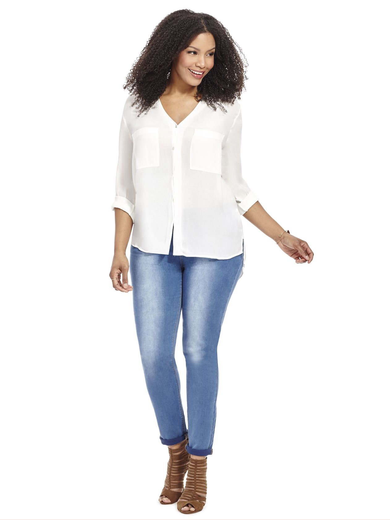Denim jeggings by elvi available in sizes top spring looks
