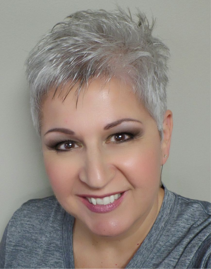 Short silver pixie cut kochrezepte pinterest for Kurzhaarfrisuren pinterest