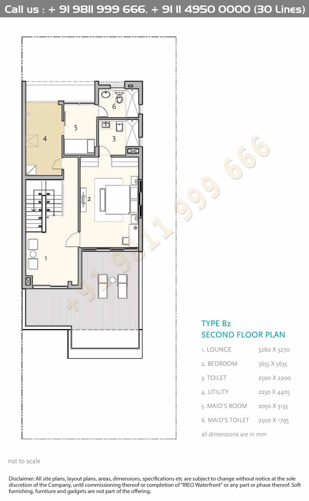Type B2 Second Floor Plan Floor Plans Apartment Floor Plans House Construction Plan