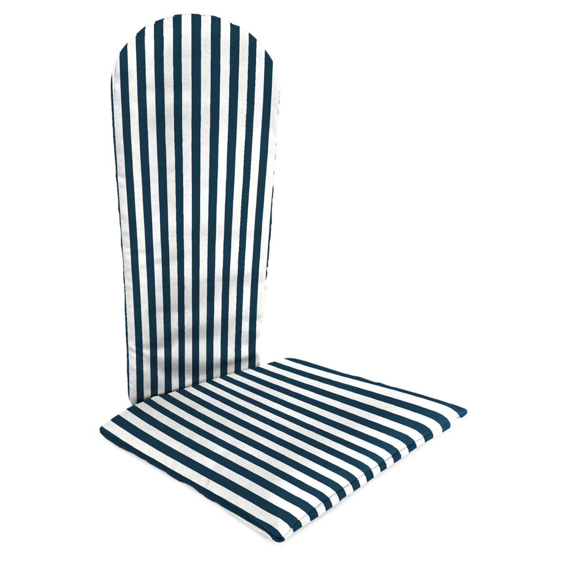 jordan knife edge outdoor adirondack chair cushion stripe oxford