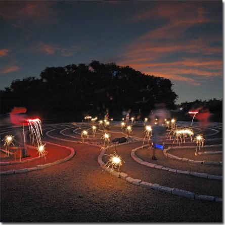 Labyrinth sparklers by jphelps2630, via Flickr