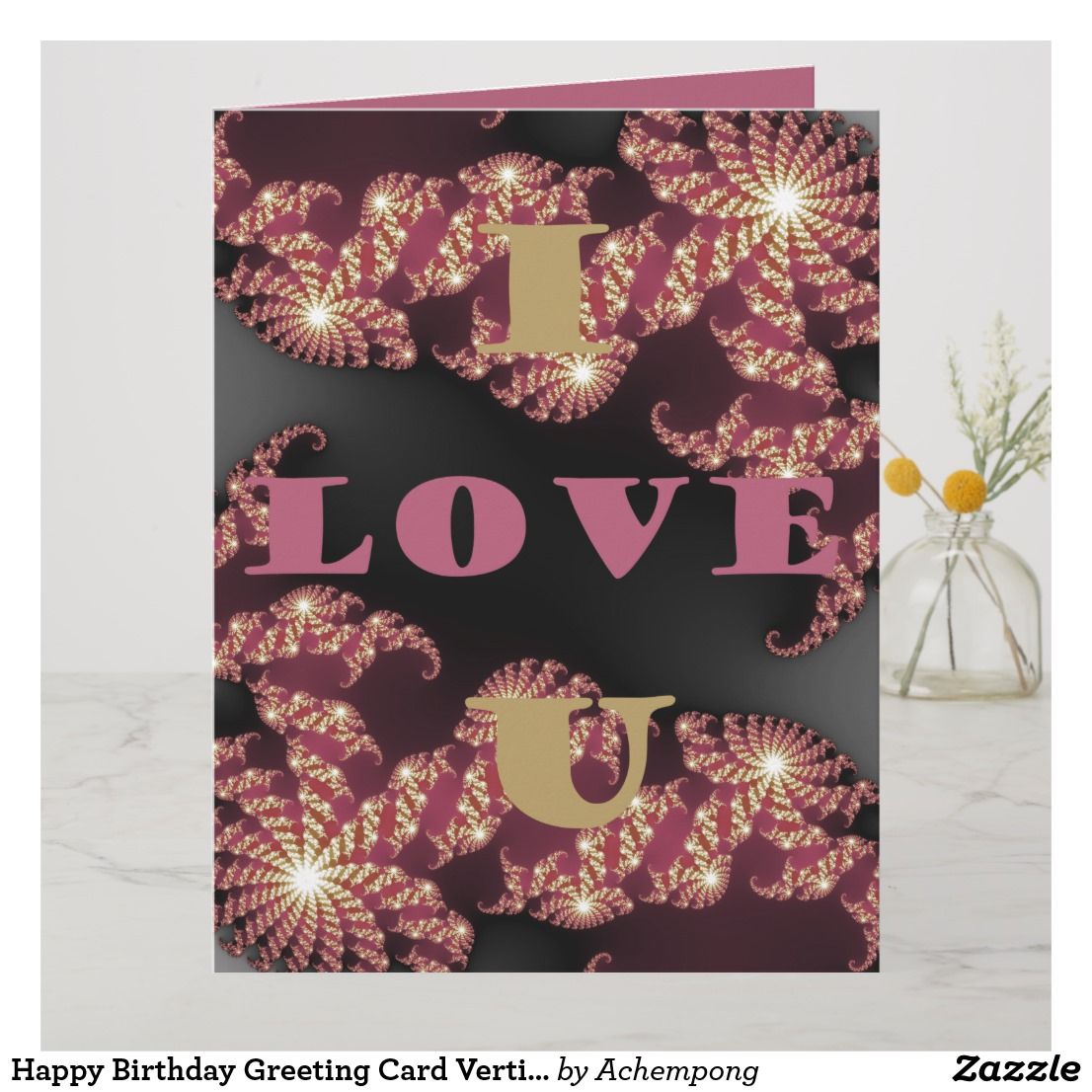 Happy Birthday Greeting Card Vertical Template Zazzle Com