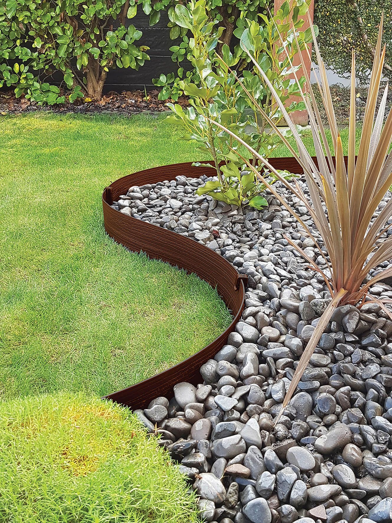 Terrace Board Brown Edging  Landscape edging, Garden landscaping