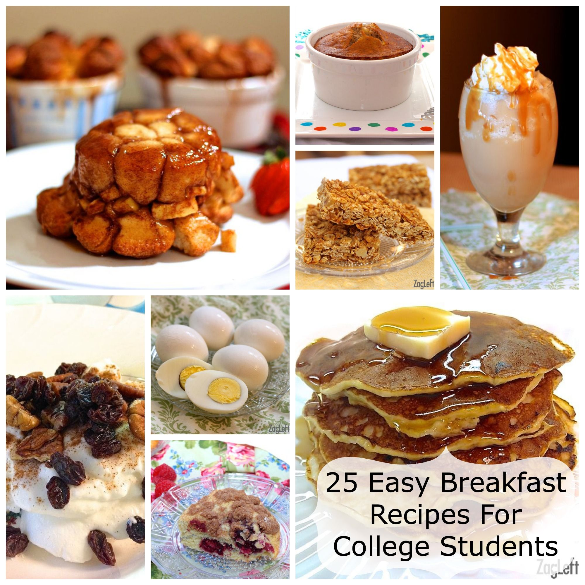 25 Easy Breakfast Recipes For College Students Or Anyone Cooking One Two
