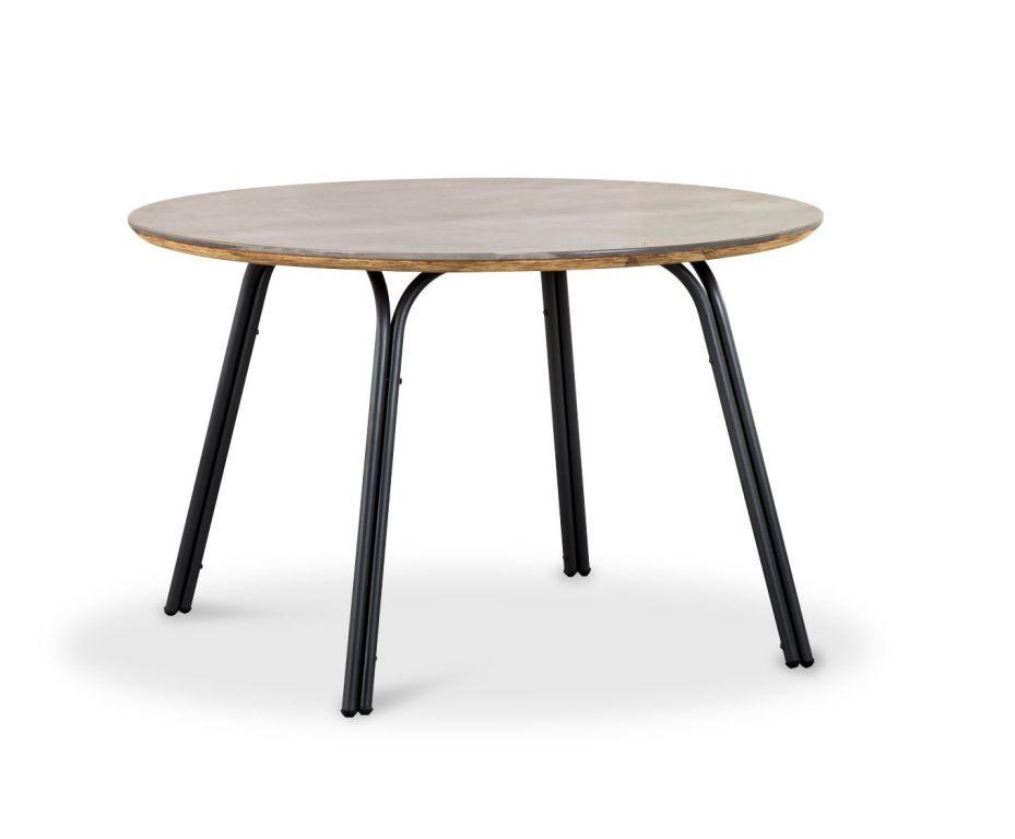 Tisch 120 X 120 Cm Symi Grau Metall Holzwerkstoff Gartentische Im Mega Mobel Sb Metall Esstisch Esstisch Rund Ausziehbar Esstisch