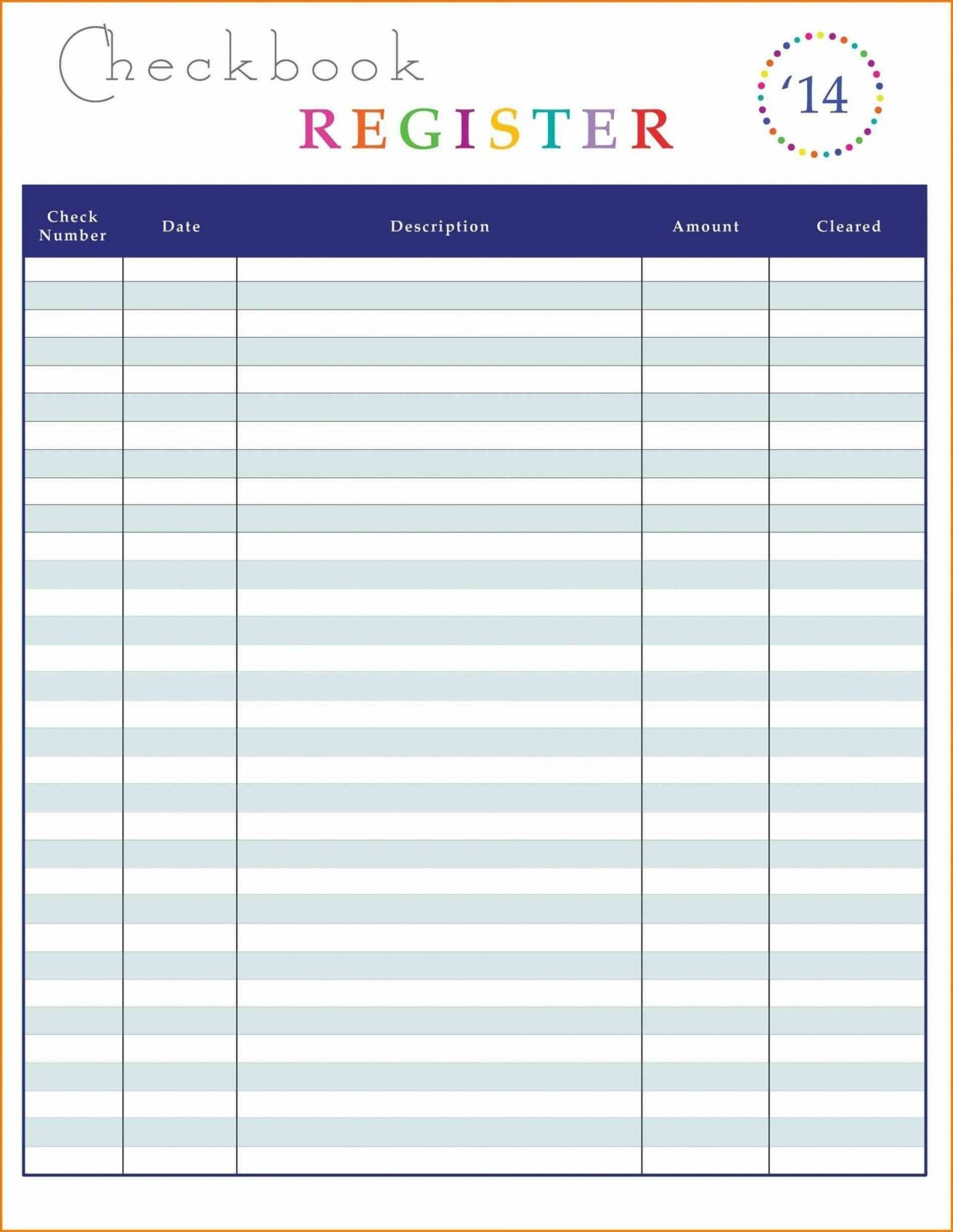 New Excel Check Register Template Xlstemplate Xlssample