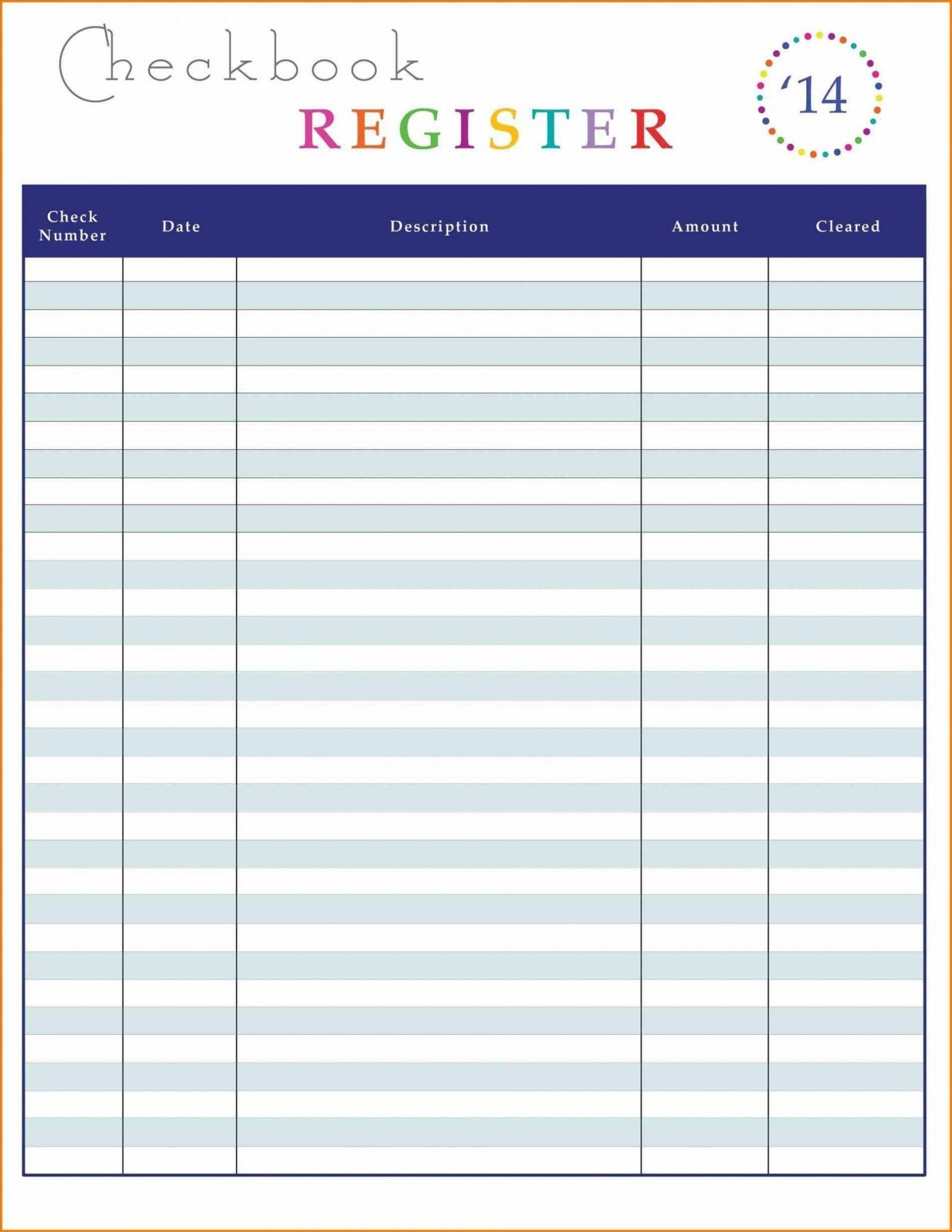 New Excel Check Register Template Xlstemplate Xlssample