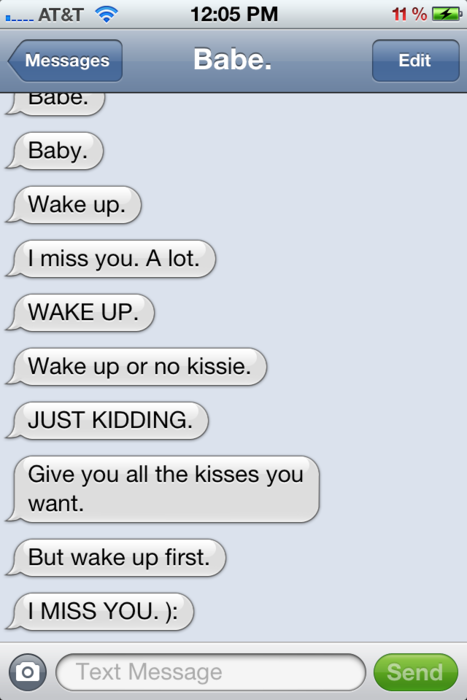 Clingy text messages