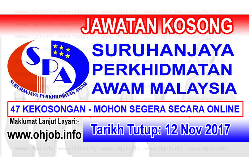 Jawatan Kosong Spa Suruhanjaya Perkhidmatan Awam Malaysia 12 November 2017 Kerja Kosong Spa Suruhanjaya Perkhidmatan Aw Iklan Jawatan Kosong