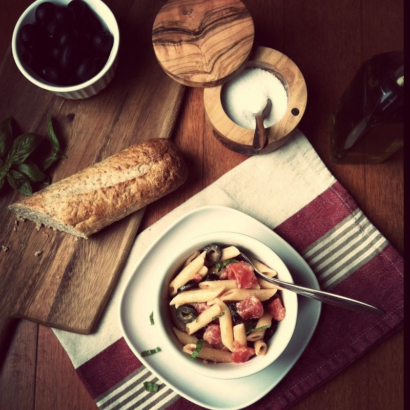 Penne con Olive from bell'alimento. http://punchfork.com/recipe/Penne-con-Olive-bellalimento
