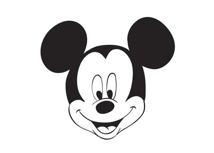 Mickey Mouse face coloring pages Birthday Pinterest Mickey