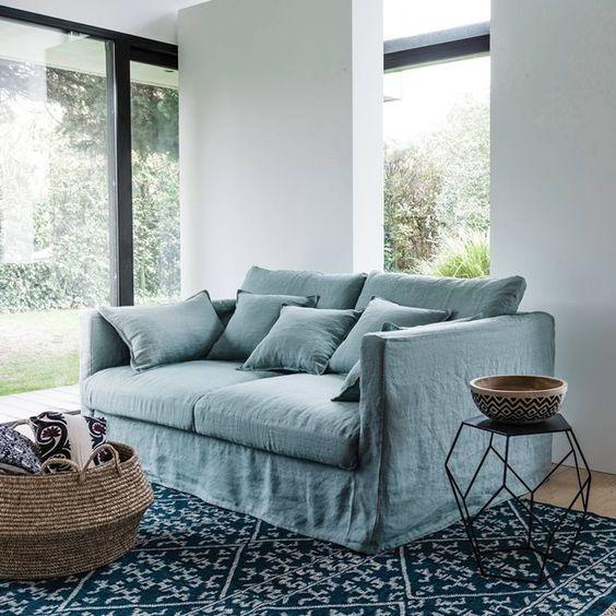 """Living Room Staging Ideas: Le Canapé En Lin, Un """"must Have"""" En Décoration"""