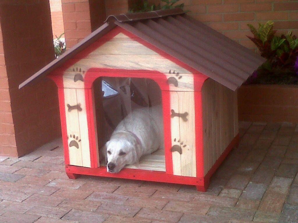 Casas de madera para perros cat s house pinterest - Casa de perro grande ...