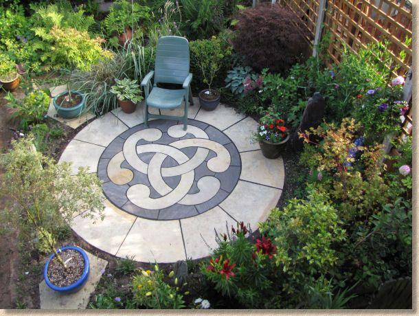 Pavingexpert Completed Decorative Circular Patio Feature Decorative Concrete Patio Concrete Patio Cottage Patio