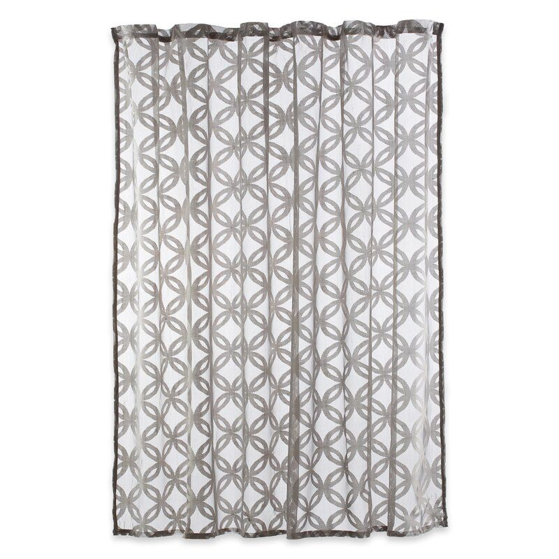 Ebern Designs Willer Geometric Single Shower Curtain Reviews