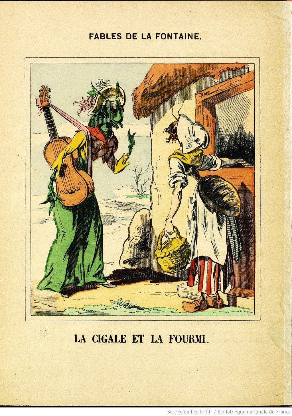 Fables De La Fontaine La Cigale La Fourmi Image D Epinal